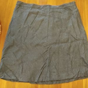 Gray wool lined skirt